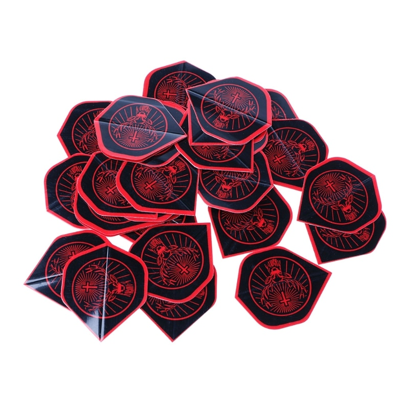 OOTDTY Dart Flights Accessories 30 Pcs/Set Pcs Nice Rare Pattern High Quality PET dropshipping