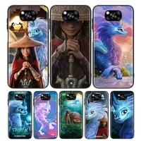 raya and the last dragon for xiaomi poco x3 nfc m3 m2 x2 f3 f2 pro c3 f1 mi play mix 3 a2 a1 6x 5x black soft phone case