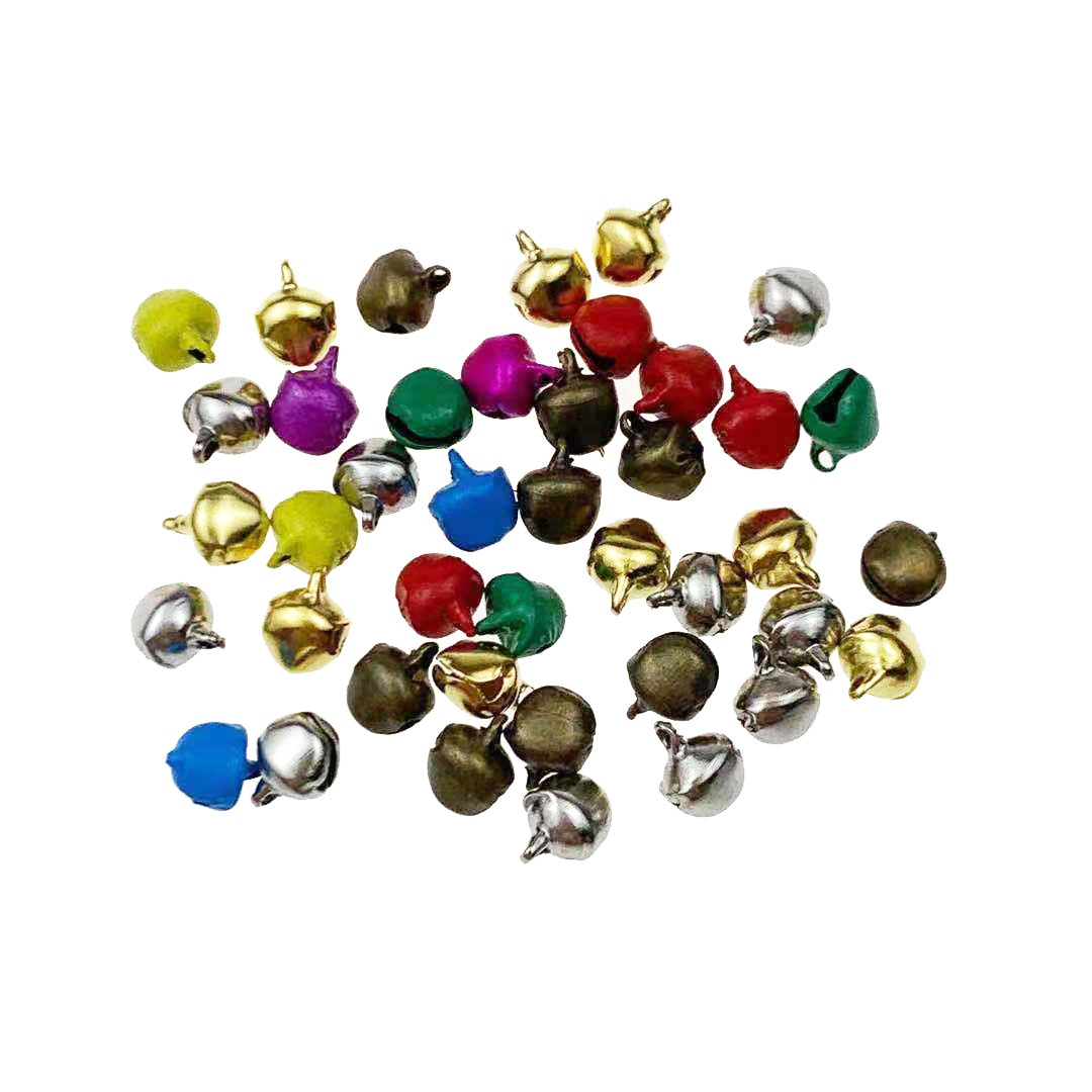 100 Teile/los 6/8mm Mixed farbe charme Weihnachten glocken perlen Weihnachten wenig glocken dekoriert geschenke