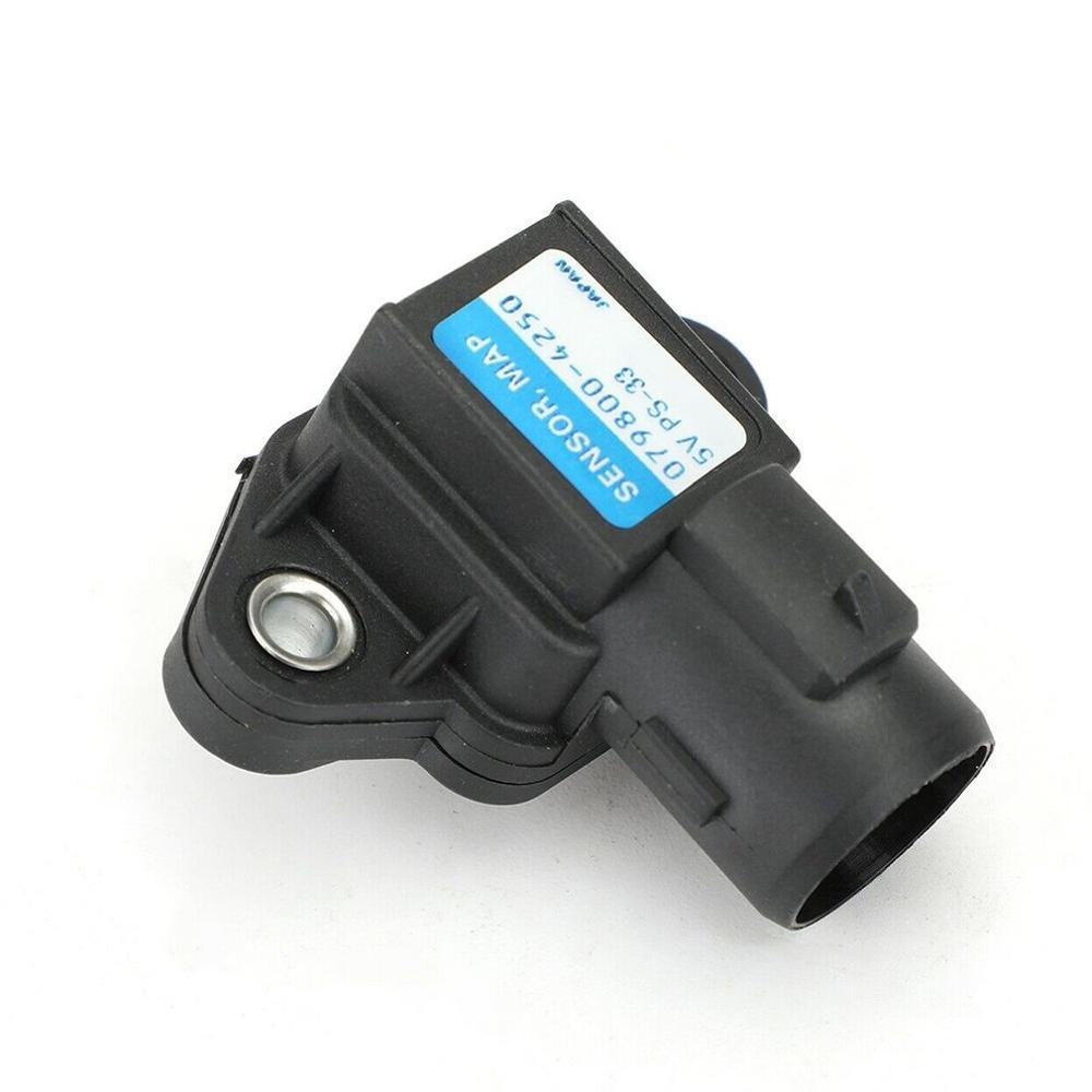 Sensor de presión de colector, Sensor de mapa adecuado para Honda para Sensor de mapa 079800-4250, Sensor de presión de colector de admisión, Sensor de presión de colector