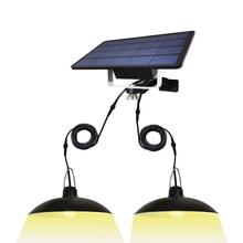 Double têtes 16*2 LED lumière solaire extérieur/intérieur lustre solaire étanche pour Camping terrasse jardin maison tente lampe de secours