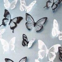 18 pieces autocollants papillon decoration de la maison autocollant mural 3D papillon chambre salon papier peint deco papier peint creatif