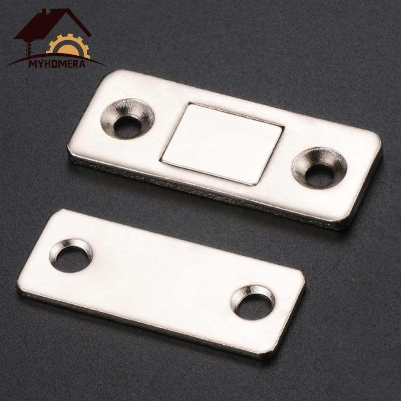 Myhomera 2 шт./компл., крепкий Дверной доводчик, магнитная дверная защелка, дверной магнит для мебели, шкаф с винтами, ультратонкий