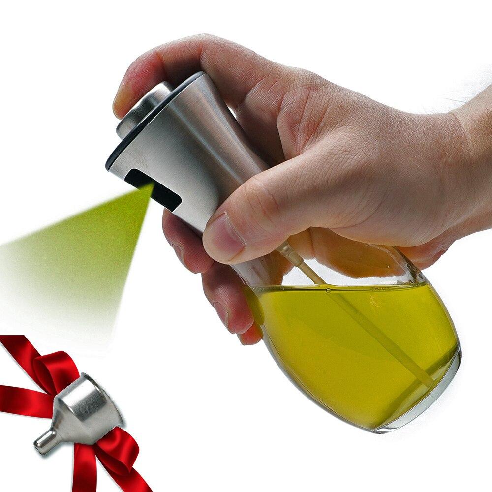 Pulverizador de aceite de oliva para barbacoa/Cocina/frasco de cristal para vinagre con...