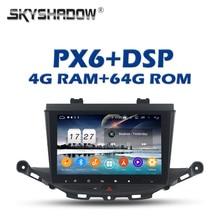 """PX6 araç DVD oynatıcı çalar DSP Android 9.0 4G + 64GB ROM 9 """"IPS GPS harita AHD RDS otomobil radyosu wifi Bluetooth 5.0 için Opel ASTRA K 2016 2017"""