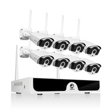 8CH NVR kablosuz CCTV sistemi 1080P 1TB 2TB 2MP NVR IP IR-CUT açık güvenlik kamerası IP güvenlik sistemi video gözetim kiti H.265