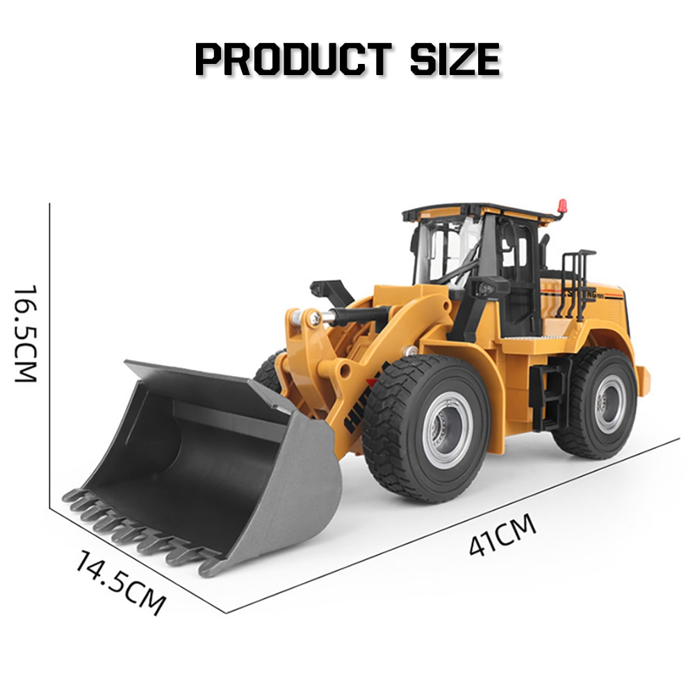 Huina 1:16 Rc Truck Loader Tractor Model Caterpillar 2.4G Radio Control Bulldozer Engineering Car Excavator Vehicle Toys for Boy enlarge