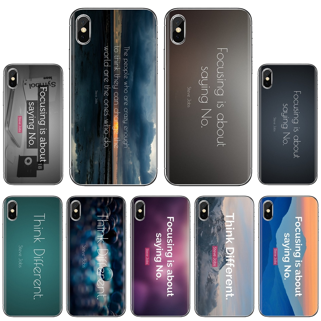 Suave superior inspirador citar Steve Jobs citas para iPhone 11 Pro 4 4S 5 5S SE 5C 6 6S 7 7 8X10 XR XS Plus Max para iPod Touch