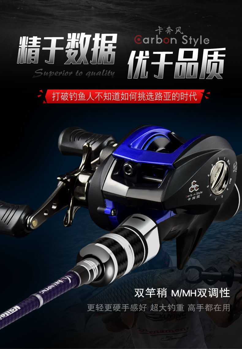 Best Sellers NEW 2.1M 2.4M+ Pulley + Decoy Box Lightweight FRP Outdoor Rock Sea Fishing Rod Straight Pole Stick Tool