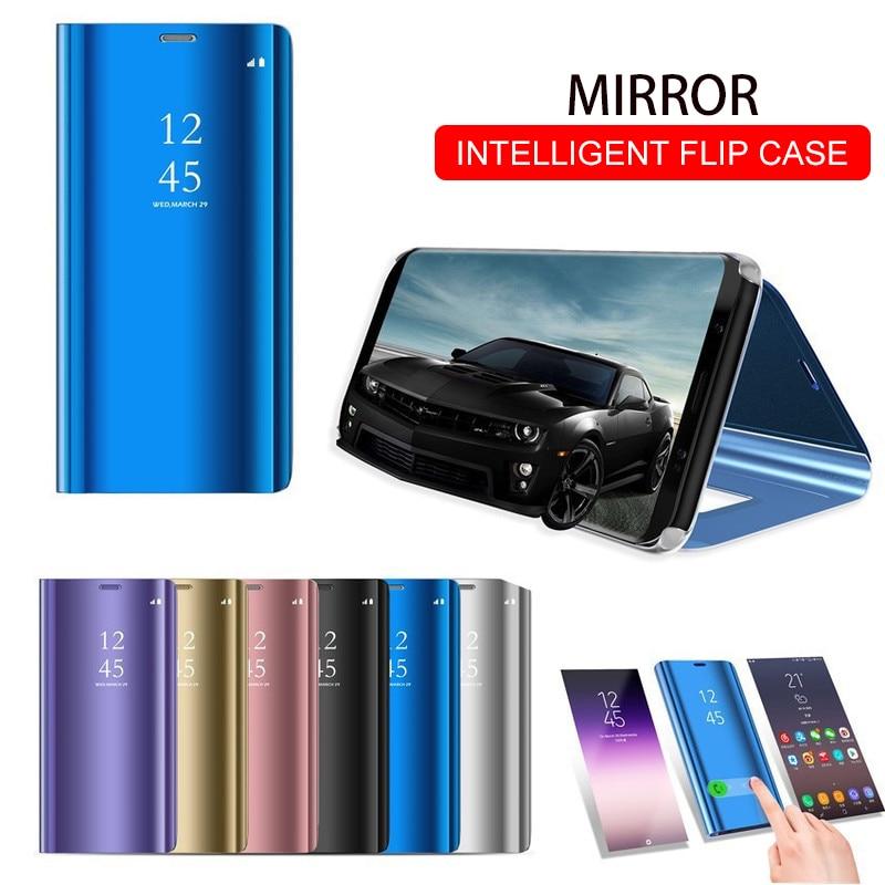 Умный зеркальный флип-чехол для телефона huawei Honor 8X P30 P20 Lite mate 20 10 Pro Note 10 P Smart Z Y5 Y6 Y9 Y7 Prime 2019
