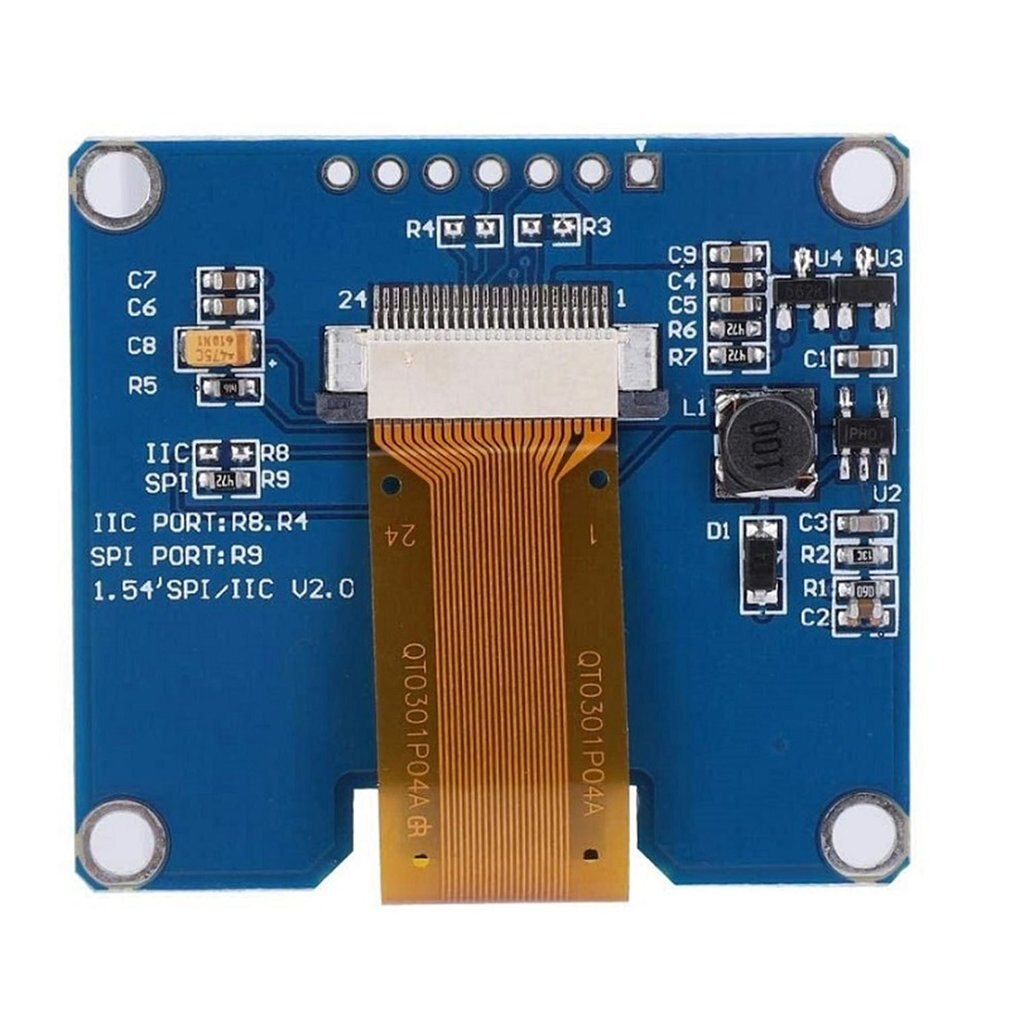 7pin IPS Display Screen 1.54 In OLED Screen 128 * 64 LCD Display Module Spd0301 Driver Compatible With Ssd1309 enlarge