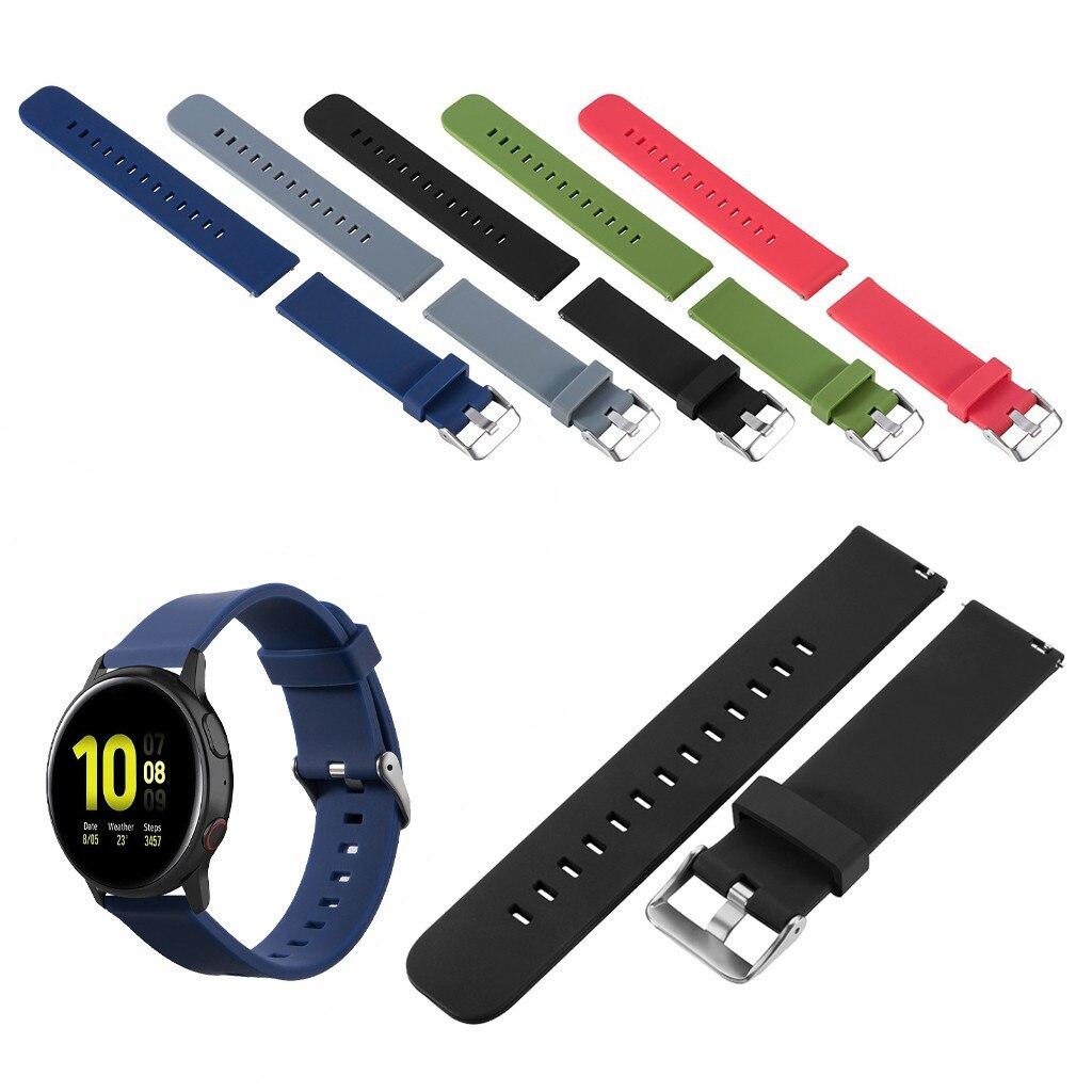 Correas de silicona para relojes Samsung Galaxy Watch Active 2, correas de reloj, pulseras de silicona
