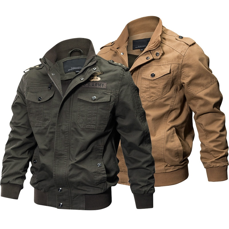 Бомбер мужской в стиле милитари, хлопковая армейская куртка-бомбер, пиджак грузового рейса, 6XL, весна-осень