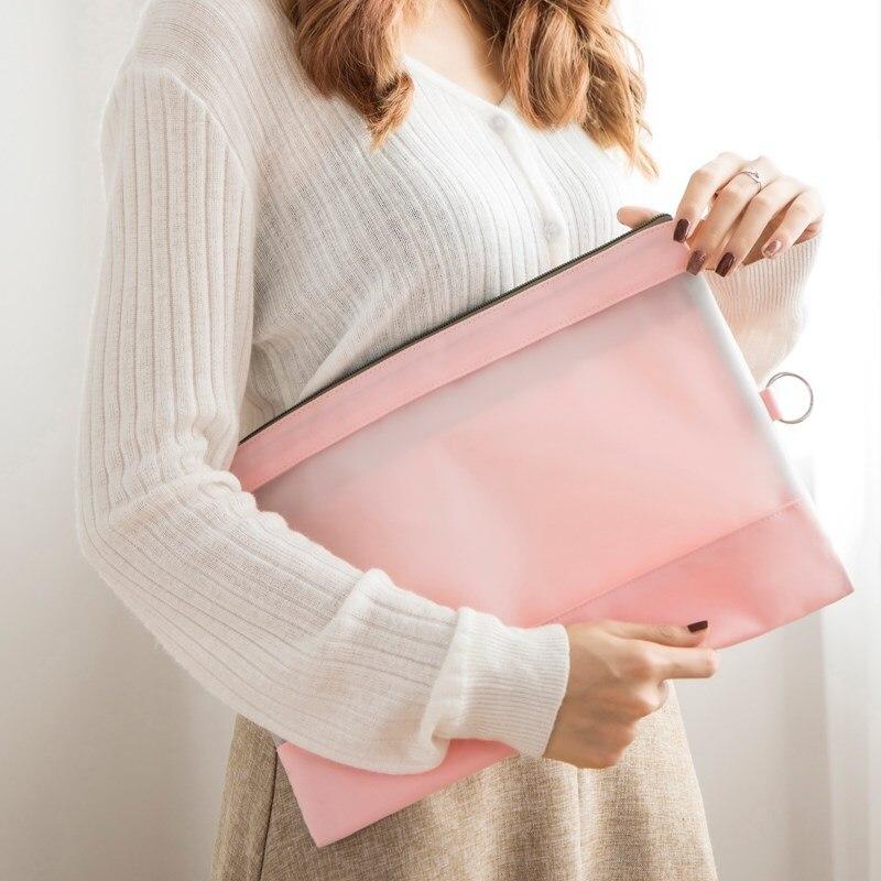 a4 file document bag waterproof High capacity B5  Paper storage sleeve bag  Folder Book Pencil Pen Case office student supplies