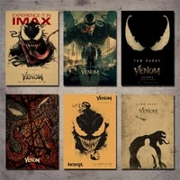 venom venom deadly guardian movie poster vintage decorative wall sticker retro poster kraft paper poster 42x30cm