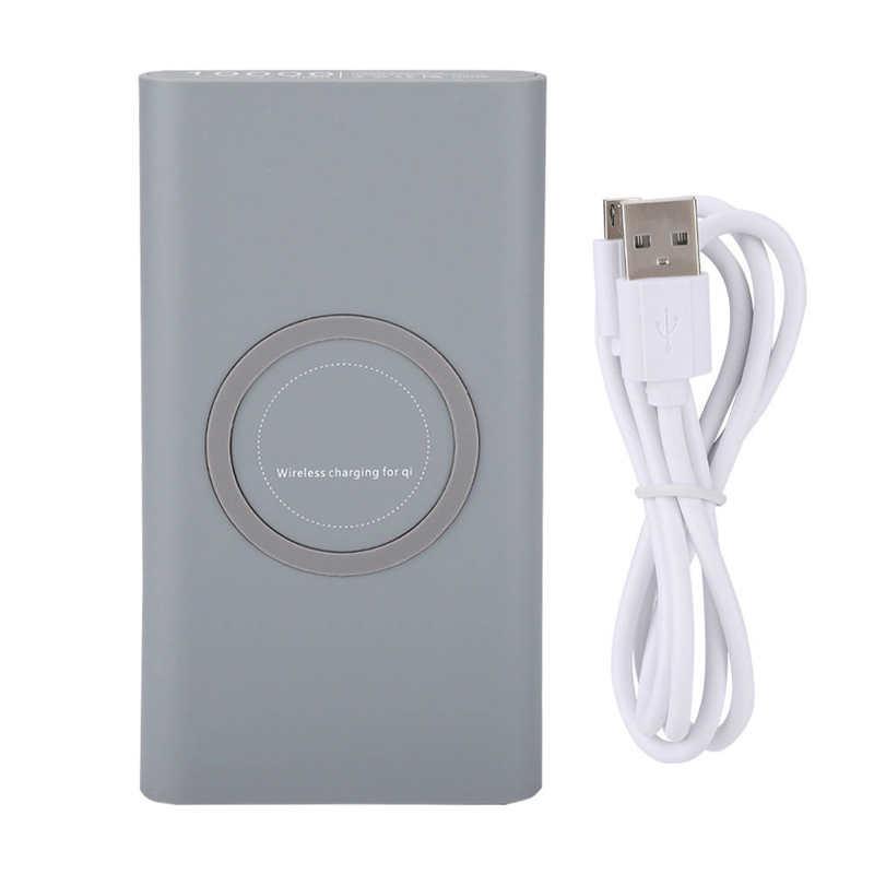 10000mAh تشى اللاسلكية قوة البنك USB شاحن محمول لسامسونج آيفون