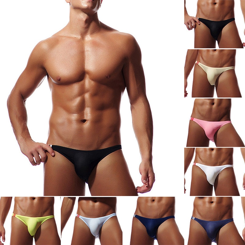 Нижнее белье мужское, ультратонкое, прозрачное, с низкой посадкой