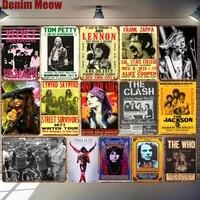 Plaques decoratives en metal Vintage de chanteur de celebrite  pour Bar  Pub  cafe  cinema  decor mural de maison  Plaques retro de musiciens ZSS32
