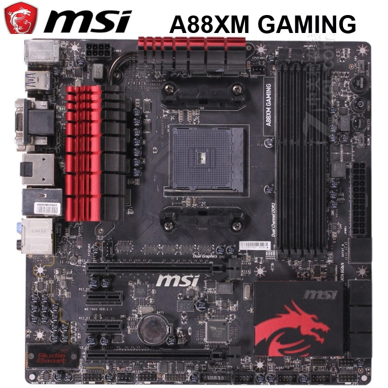 Socket FM2/FM2 + MSI A88XM игровая 32 ГБ DDR3 SATA III AMD A88X настольная MSI A88X материнская плата FM2/FM2 + DDR3
