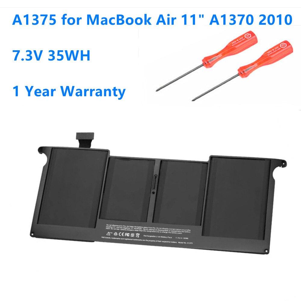 بطارية بديلة للكمبيوتر المحمول A1375 ، 2010 فولت ، 37 واط ، لأجهزة Apple MacBook Air 11