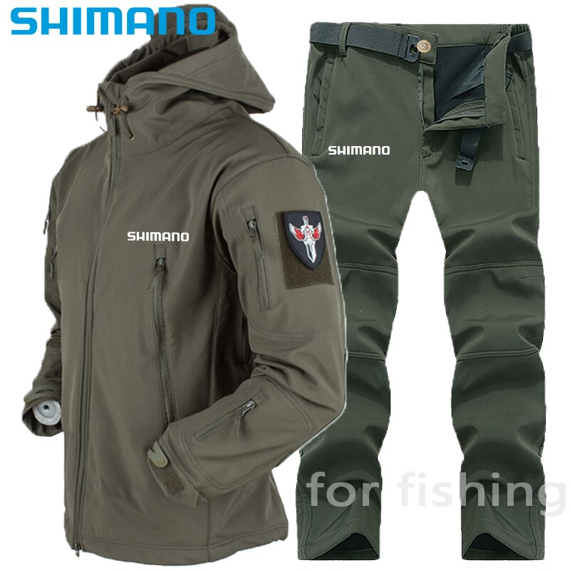 Winter Men's Clothing Waterproof Windproof Fishing Clothes Hunting Soft Shell Fleece Outdoor Cycl Clothing for Fishing Wear Suit enlarge