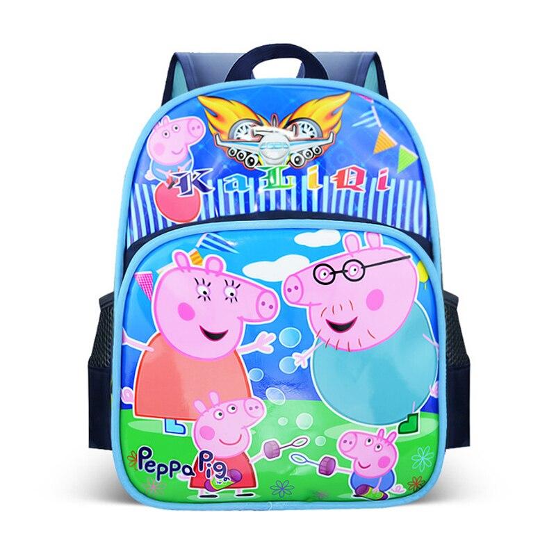 Nuevo Peppa cerdo de peluche de juguete muñeca Kawaii mochila escolar dibujo animado 3D mochila de Anime bolsa de niños juguetes para niños regalo