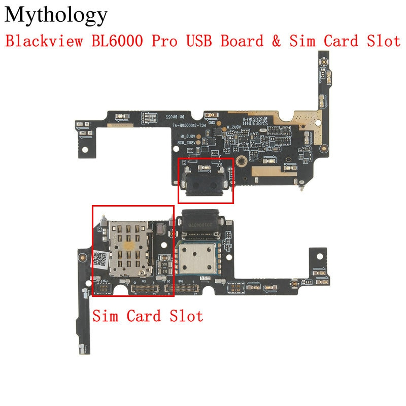 Mythology for Blackview BL6000 Pro USB Board Sim Card Slot Flex Cable Dock Connector Mobile Phone Charger Circuits