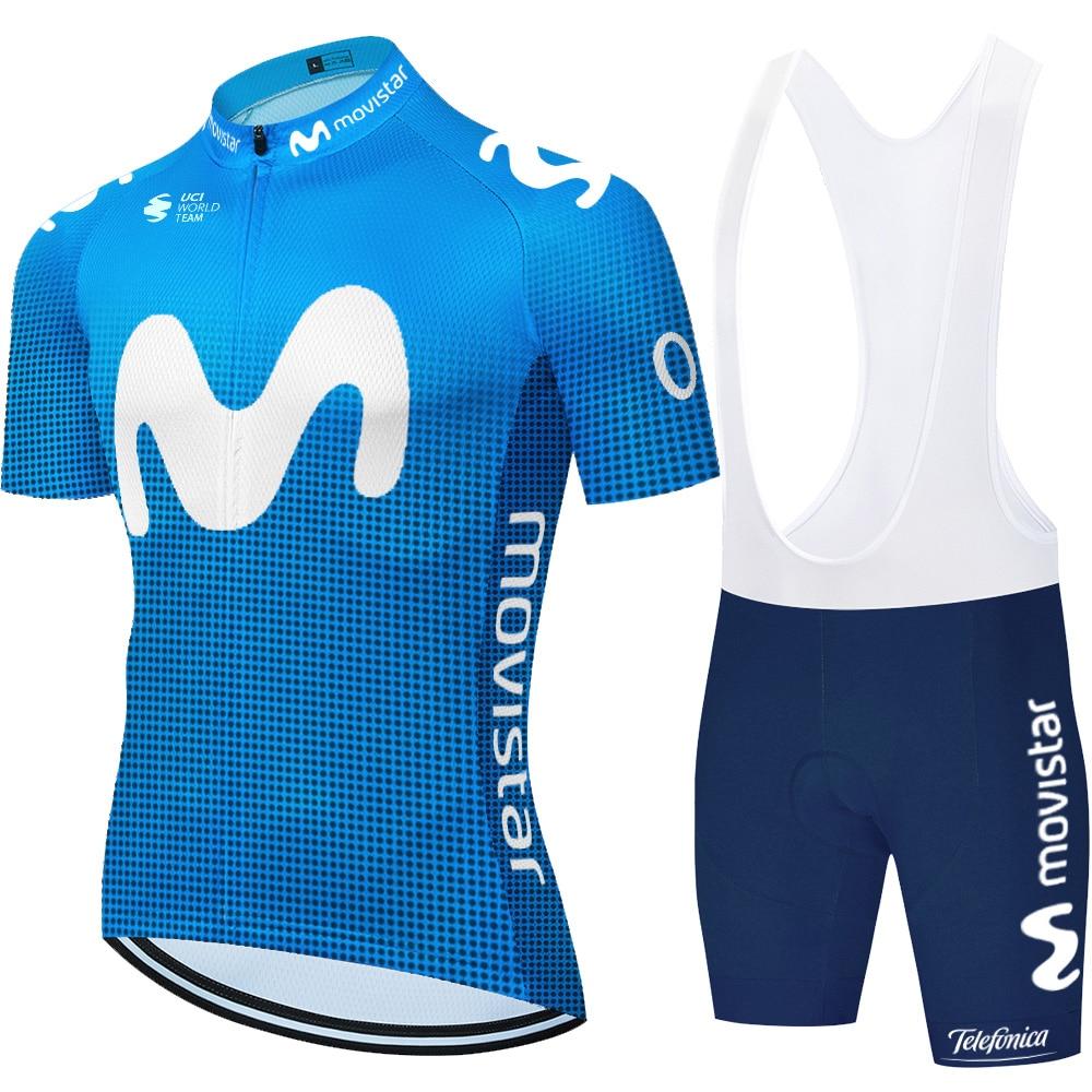 2020 Shorts cycling team movistar cycling jersey Sports suit men summer 6xl cycling mens Ropa Ciclismo Maillot culottes cycling