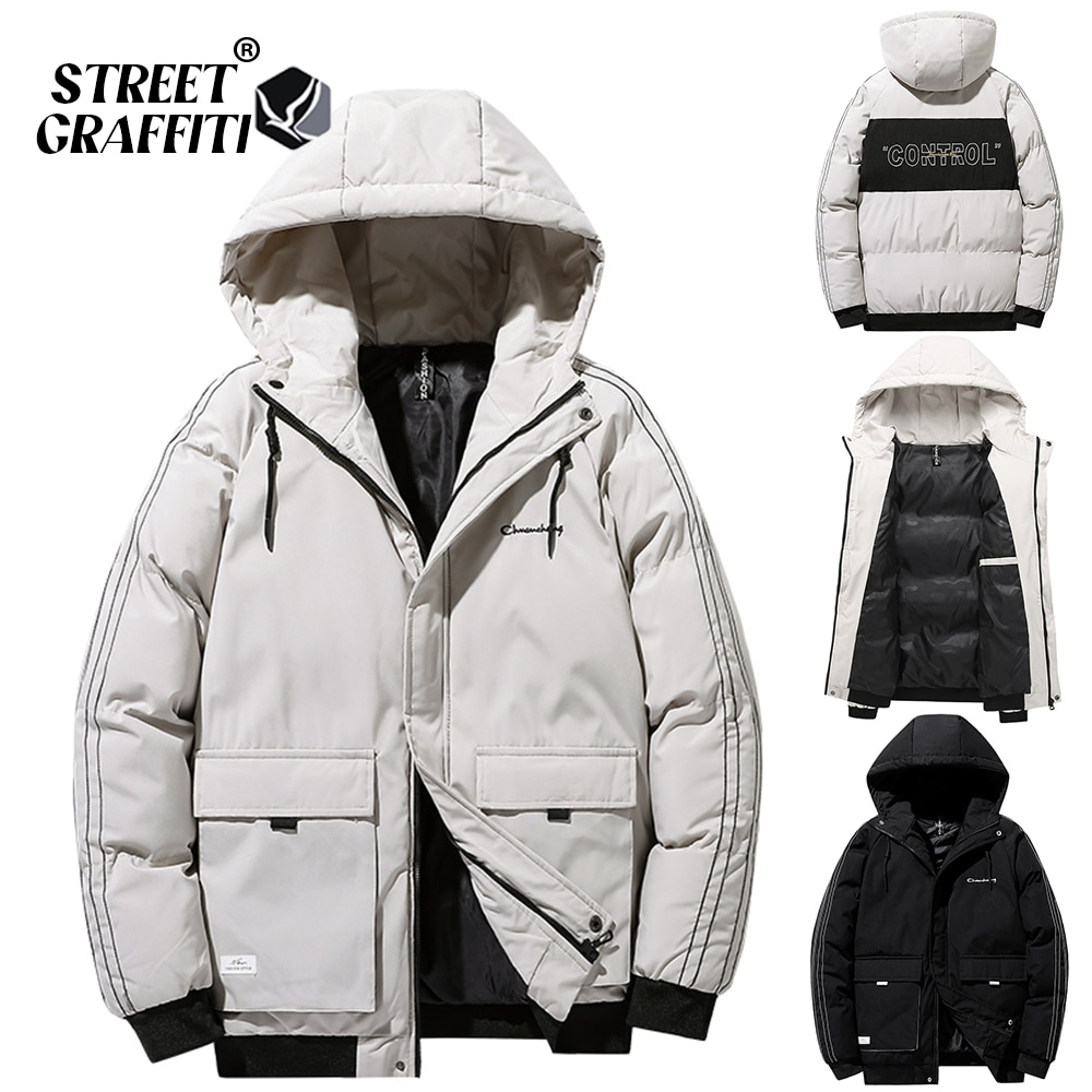2021 Men Winter Casual Thick Warm Duck Down Parkas Waterproof Windproof Brand Quality Hooded Jacket