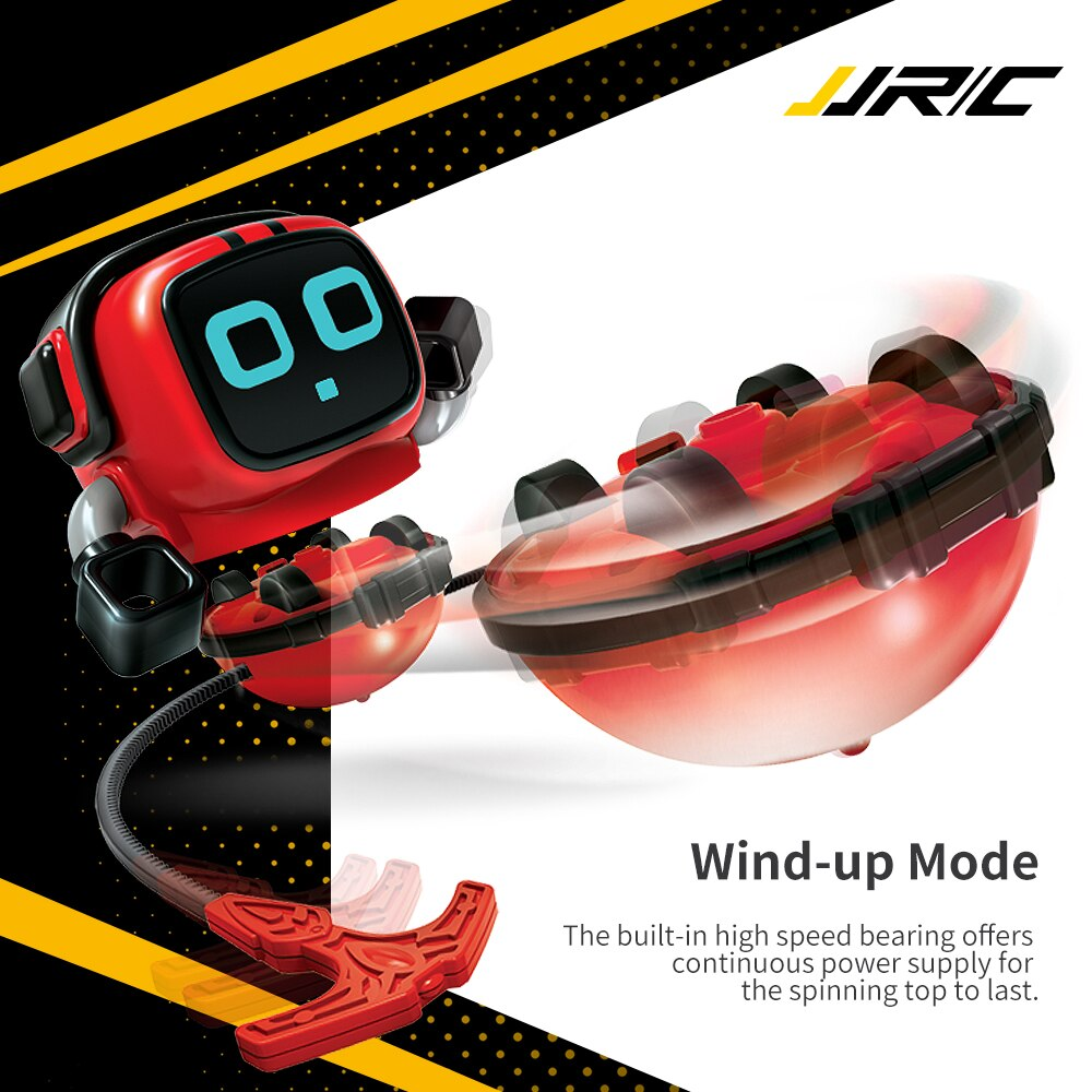 JJRC R7 Novelty Game Toy Spinning Top Robot Battle Gyro Pull Back Car Spinning in Wind Up Gyro Toy for Kids Boys Girls Gifts enlarge