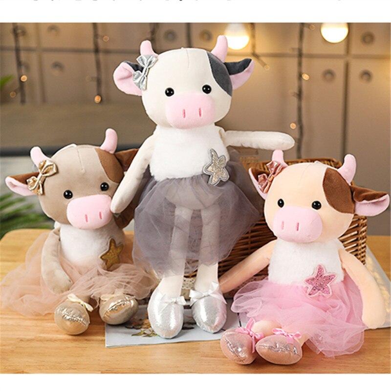 Балетная корова мягкие игрушки животные kawaii Плюшевые pluszaki детские игрушки для девочек домашнее украшение детская комната игрушки оптом