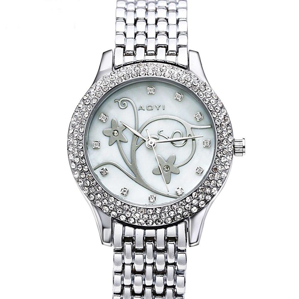 Dernière vente grande remise belle pas cher montre ronde boîtier fleur cadran mode Design montres pour les femmes