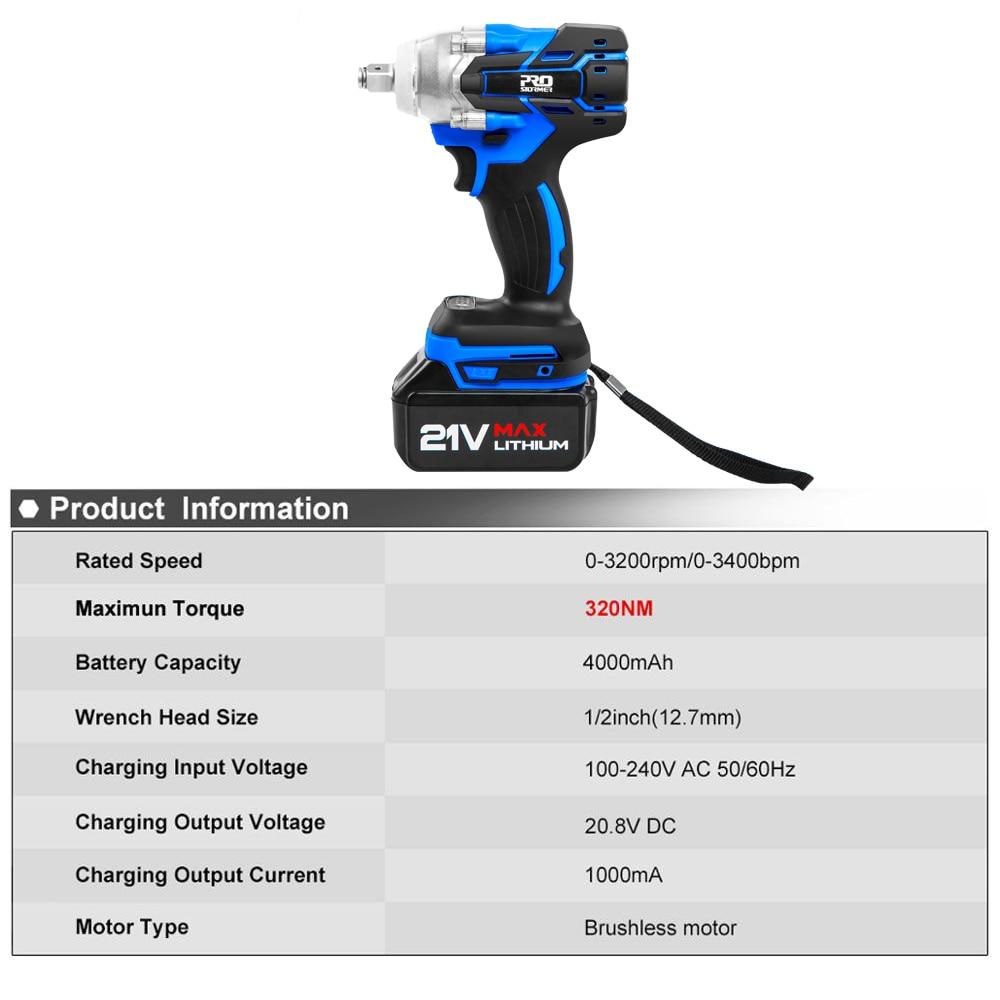 Elektrinis smūginis veržliaraktis 21V be šepetėlių raktų lizdas - Elektriniai įrankiai - Nuotrauka 2