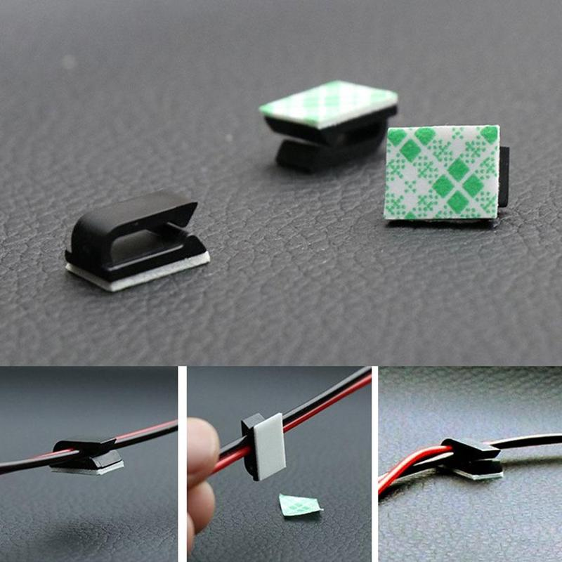 Factory 100% New Plastic Wire Tie Base Car Cable Clip Self-adhesive Layer Wire Fixing Clamp Car Wiring Adhesive  Buckle