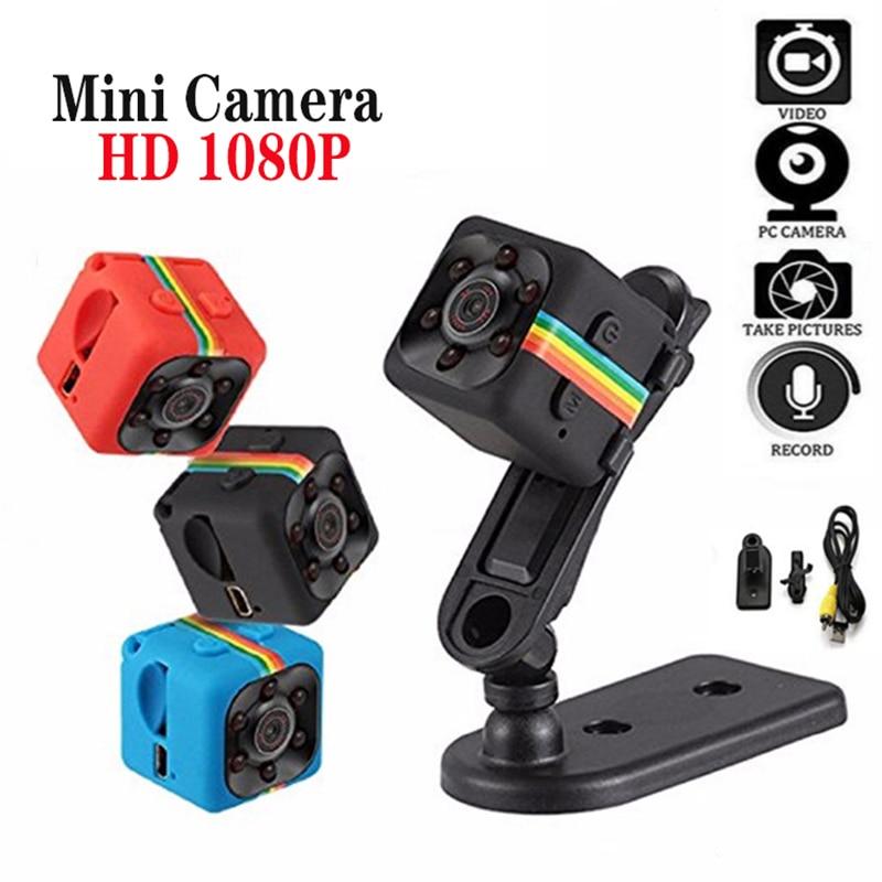 Mini cámara HD 1080P, Sensor de visión nocturna, videocámara de movimiento DVR, Micro Cámara deportiva DV, cámara pequeña de vídeo SQ 11