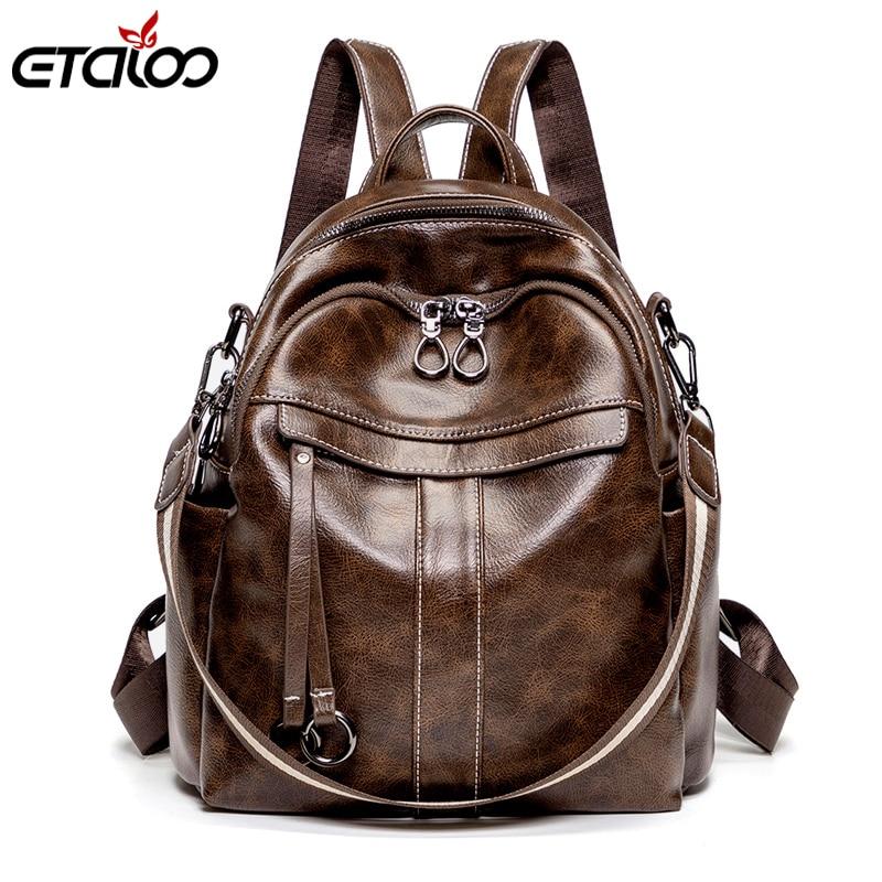 Женский рюкзак для книг, школьные сумки, рюкзаки, рюкзаки для девочек-подростков, сумки для путешествий, женские рюкзаки из мягкой кожи высо...