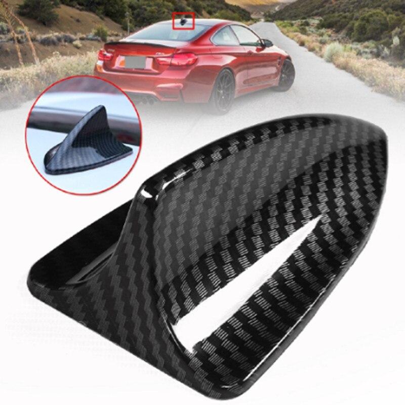 Antena Universal para techo de coche Antena de fibra de carbono aleta de tiburón Base Topper antena aérea decorativa para BMW para Honda para Toyota para VW