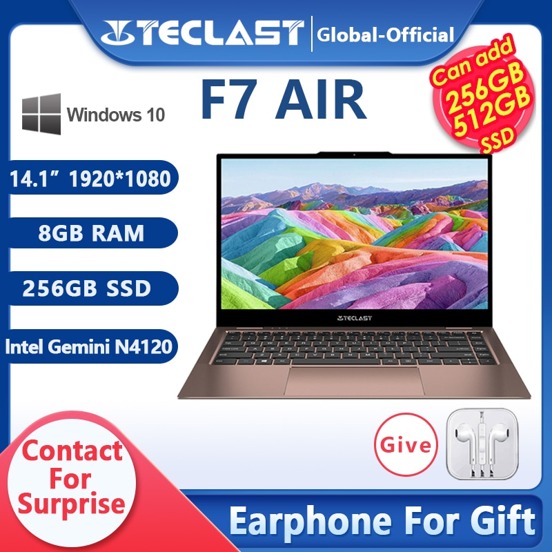 Nuevo Teclast F7 aire portátil 1,18 KG 14