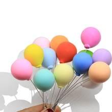 Dollhouse-Miniature en argile polymère   Collection de ballons colorés, décoration de gâteau pour fête de mariage, joli Dessert, 20/50 pièces