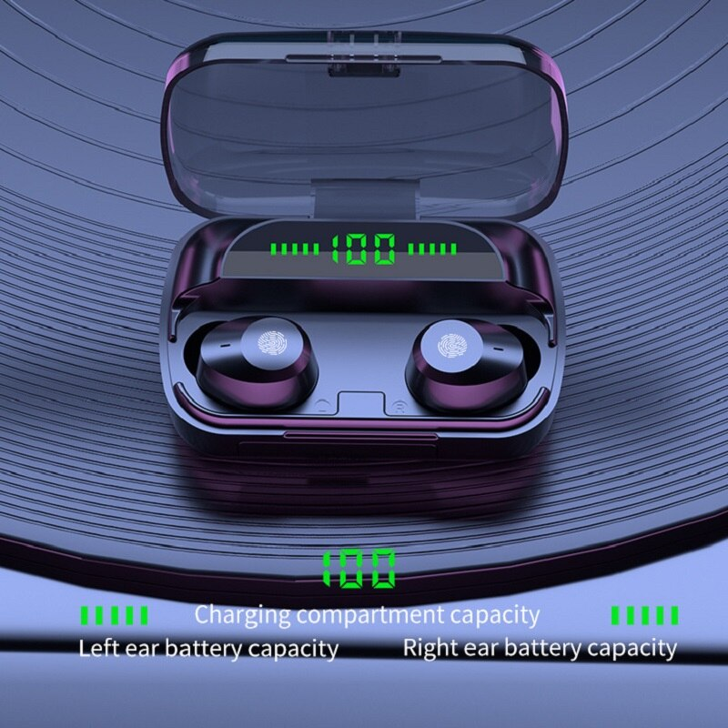 New Private Model TWS Bluetooth Headset Wireless Binaural Sports Mini Waterproof OEM in-Ear 5.1 t18 tws bluetooth new private model headset 5 0 wireless dual earphone mini bluetooth headset with charging compartment