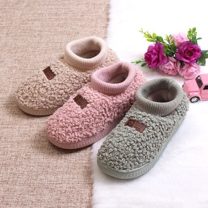 2020 Winter New Women's Leisure Velvet Warm Non-slip Flat-soled Teddy Cotton Shoes