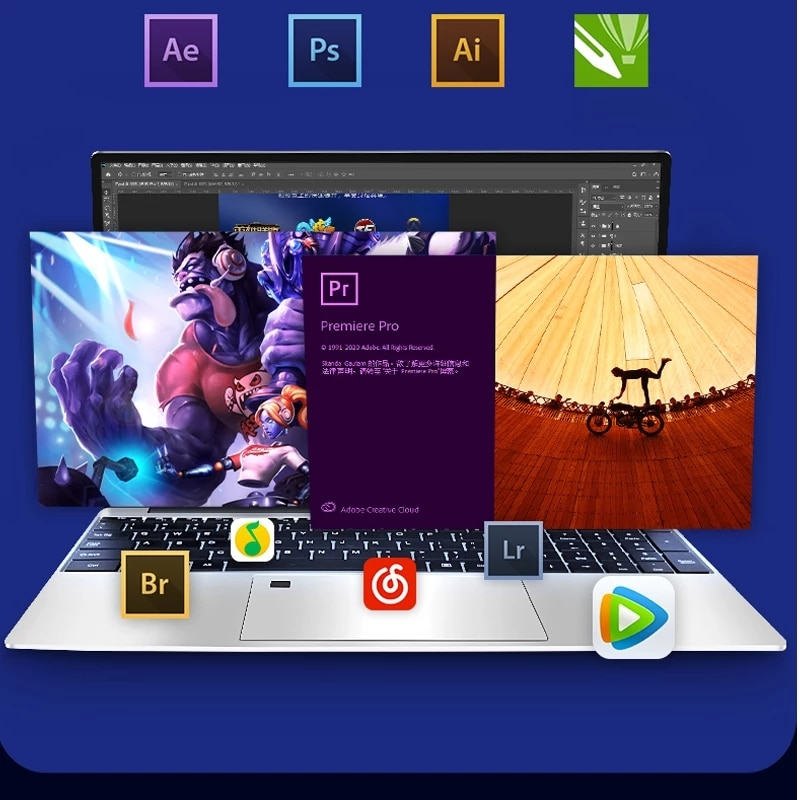 Promo AMD Ryzen gaming laptop R7 2700U 36GB RAM DDR4 1TB SSD Ultrabook Metal Laptop Ryzen game Laptop for business college students