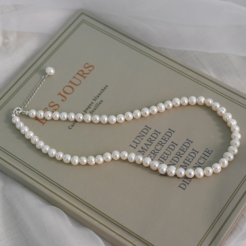Natural freshwater pearl chokers necklace
