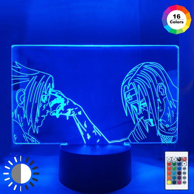 3d Led Night Light Anime Lamp for Kids Child Bedroom Decor Nightlight Rgb Colorful  Manga Gift