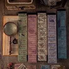 Journamm-Bloc de notas de la serie Vintage, papel Kraft, álbum de recortes, diario de basura, papel decorativo, papelería, cuaderno, Material de papel, 50 unids/paquete
