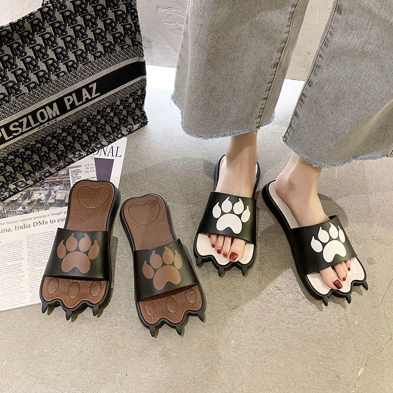 Flat Shoes Slippers Women Big Size Designer Fashion Funny Creativity Interesting Animal Claw Sandals Comfy Non-slip Casual