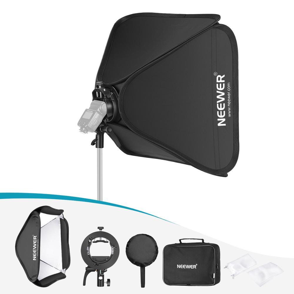 Neewer bowens montagem softbox + S2-Type suporte flash, controle de inclinação precisa, integrado guarda-chuva montagem compatível com neewer 750ii