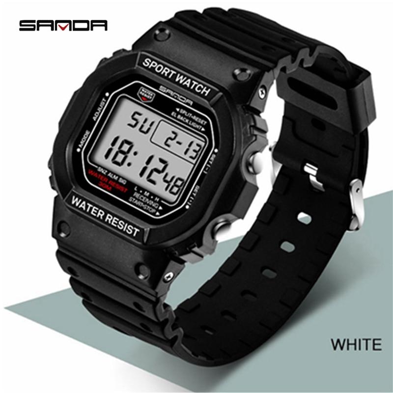 Часы наручные Herren Uhren мужские светодиодные, брендовые люксовые цифровые деловые, 2021
