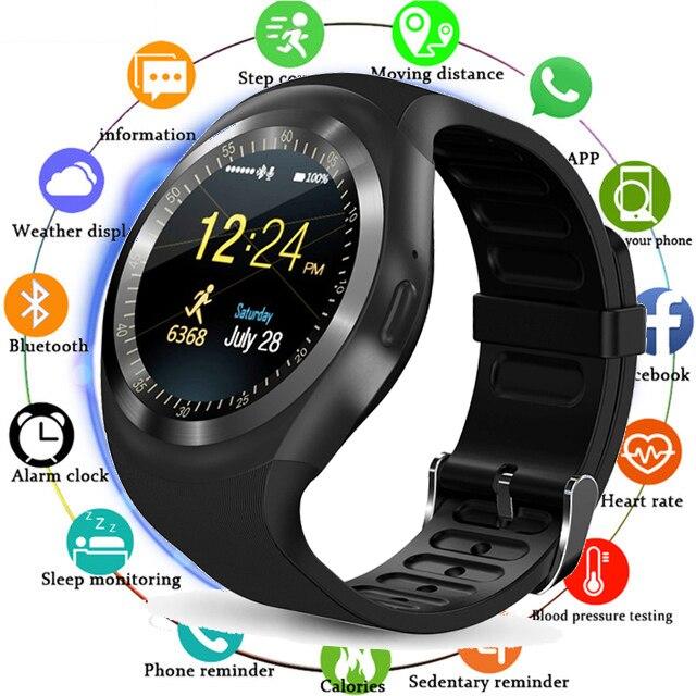 Reloj de pulsera con pantalla táctil inteligente Bluetooth SmartWatch con cámara/ranura para tarjeta SIM reloj inteligente impermeable DZ09 X6 VS M2 a1 Reloj