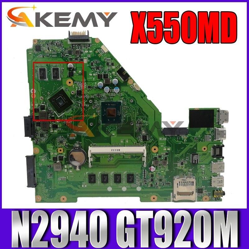 Akemy X550MD لوحة الأم للكمبيوتر المحمول ASUS X550MJ X550M اللوحة الرئيسية الأصلية 4GB RAM N2940 CPU GT920M